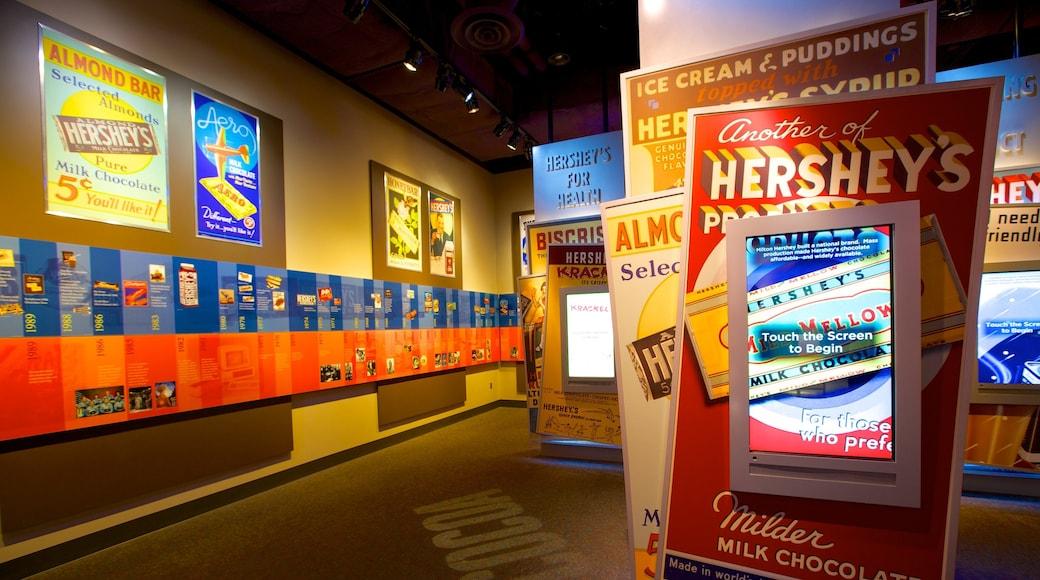 The Hershey Story Museum que inclui vistas internas e sinalização