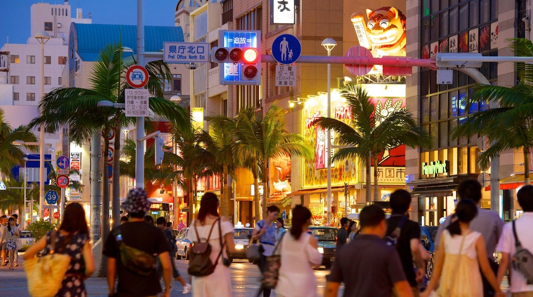 International Street featuring nightlife, a city and night scenes