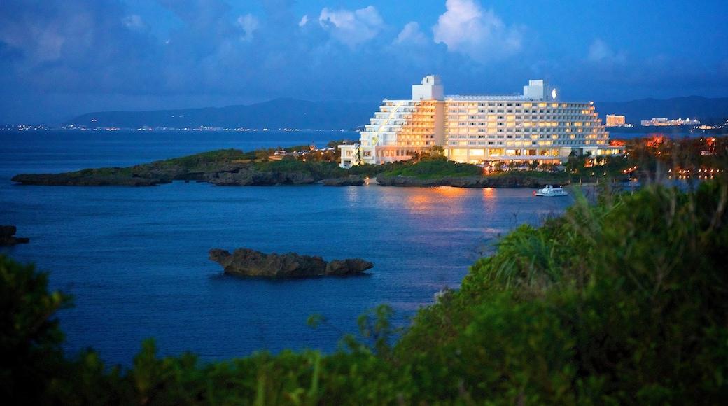 Cape Manza featuring night scenes and a hotel