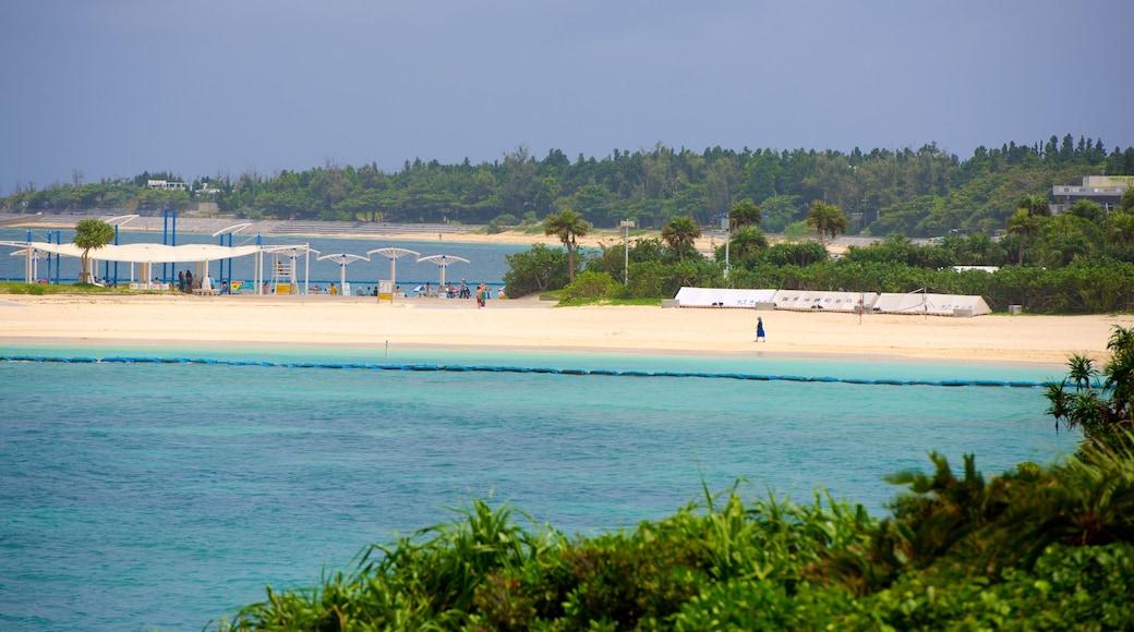 Okinawa das einen Strand und allgemeine Küstenansicht