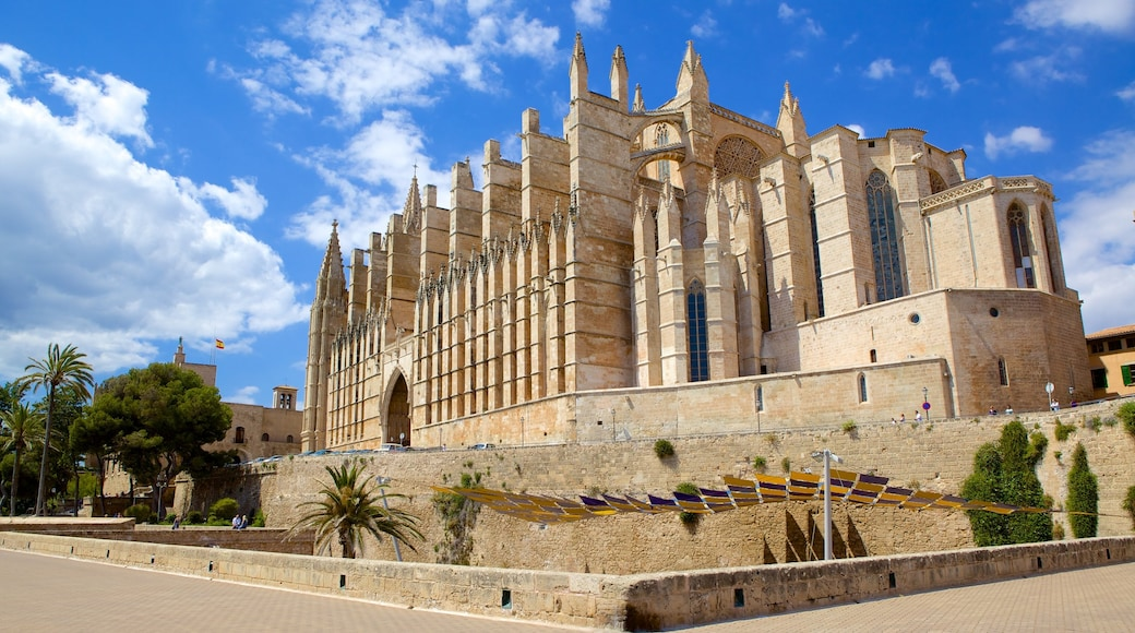 Mallorca Cathedral featuring heritage architecture, a church or cathedral and religious aspects