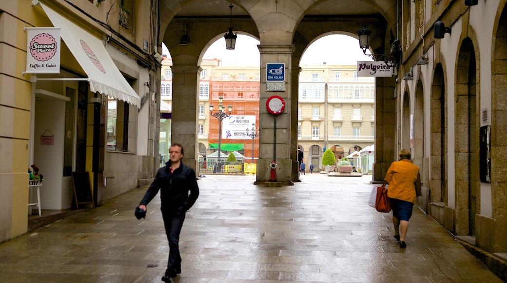 La Coruña que incluye escenas cotidianas