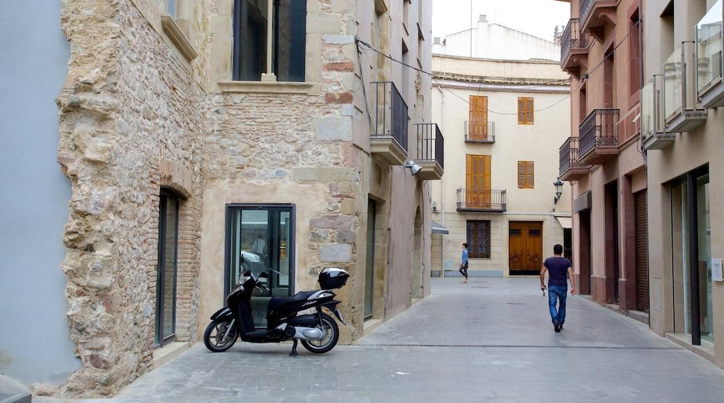 Granollers toont een huis en straten