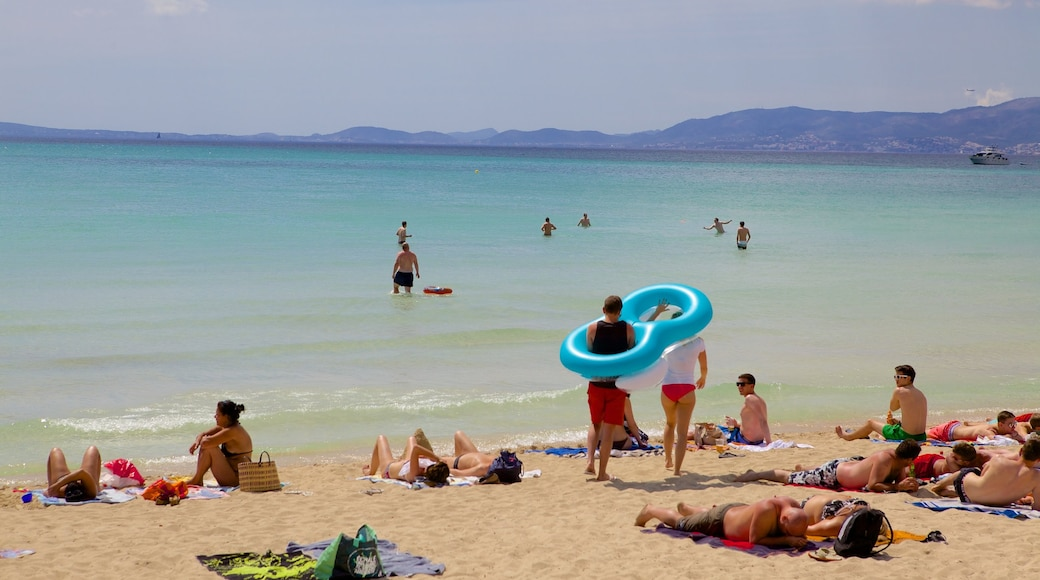 El Arenal which includes a beach as well as a large group of people