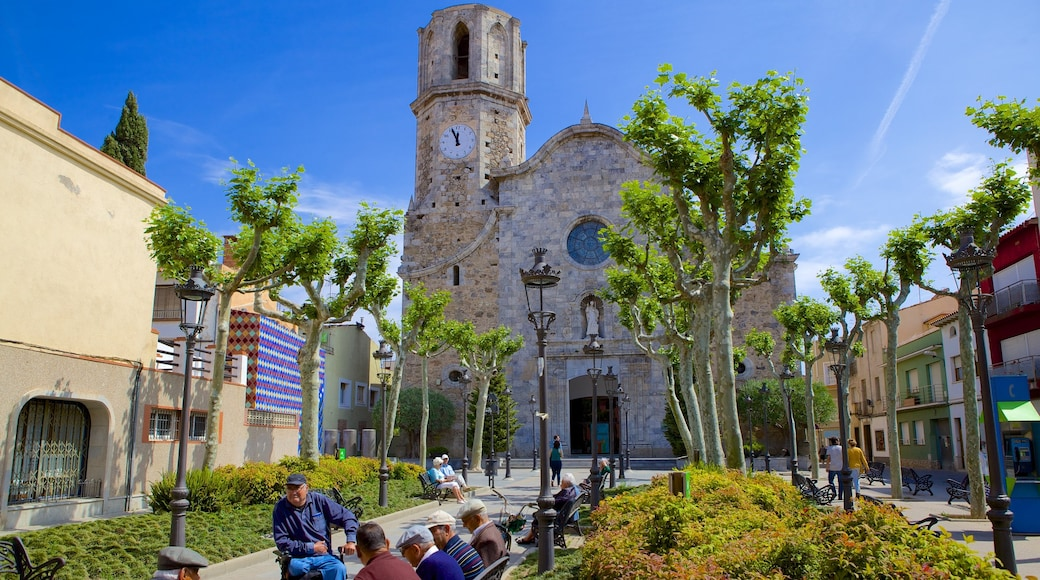Malgrat de Mar inclusief een kerk of kathedraal en historische architectuur