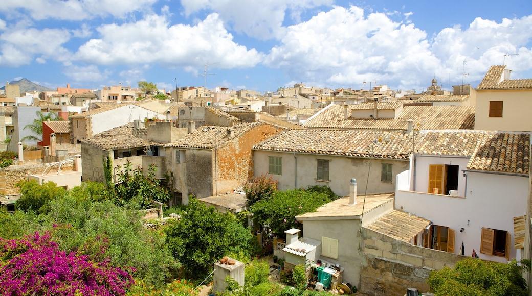 Alcúdia welches beinhaltet historische Architektur und Kleinstadt oder Dorf