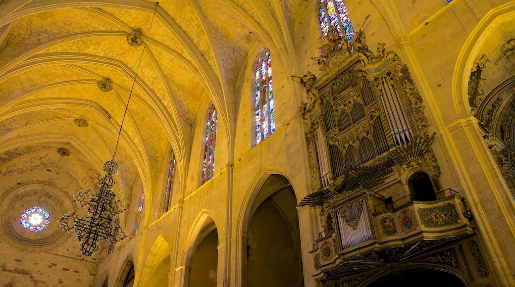 Basílica de San Francisco que incluye elementos religiosos, una iglesia o catedral y vistas de interior