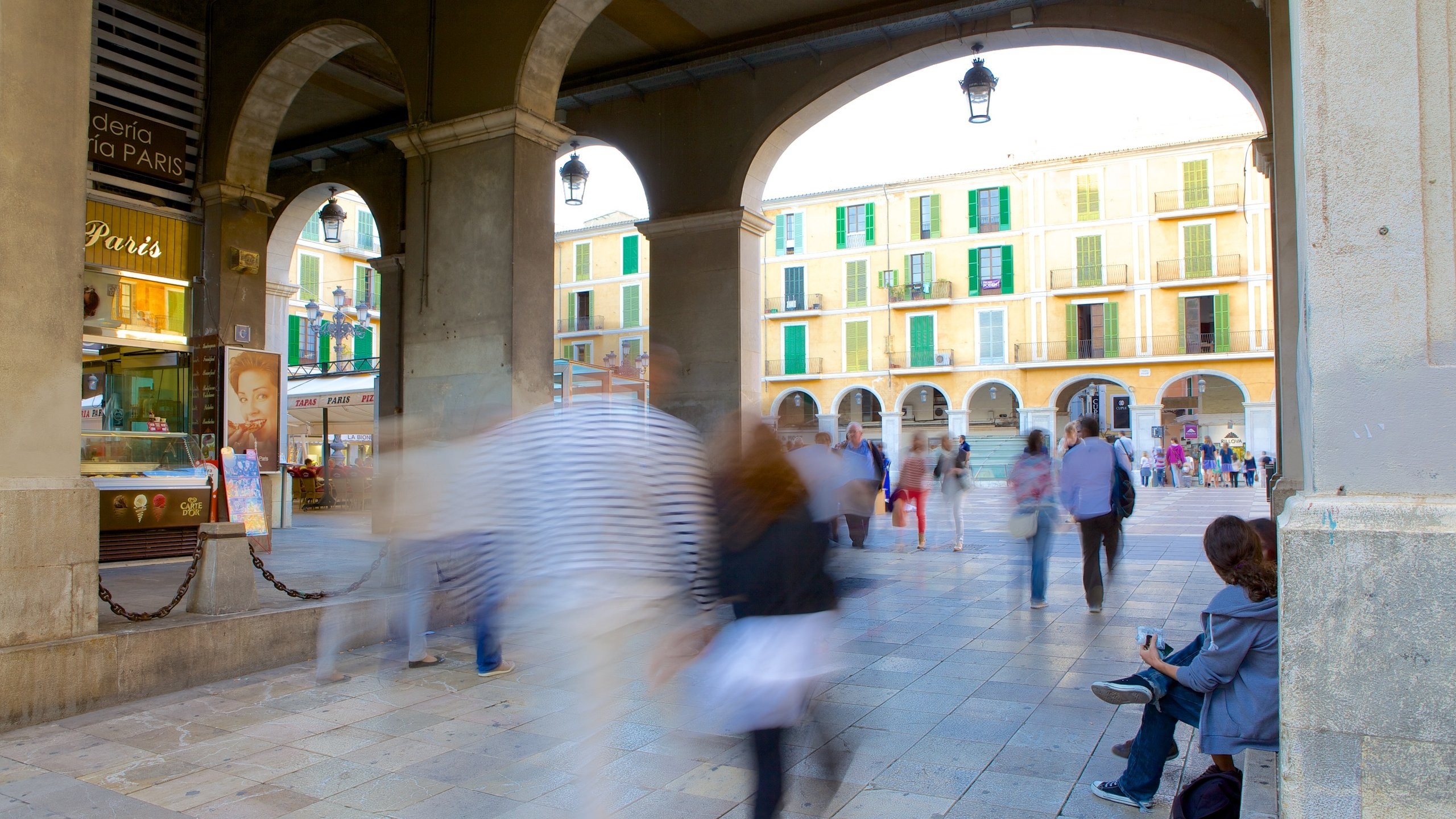 Plaza Mayor de Palma, Palma de Mallorca, Balearic Islands, Spain