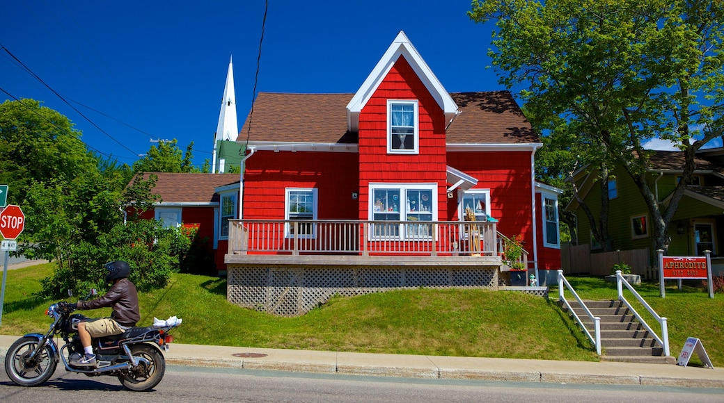 Baddeck featuring street scenes and a house