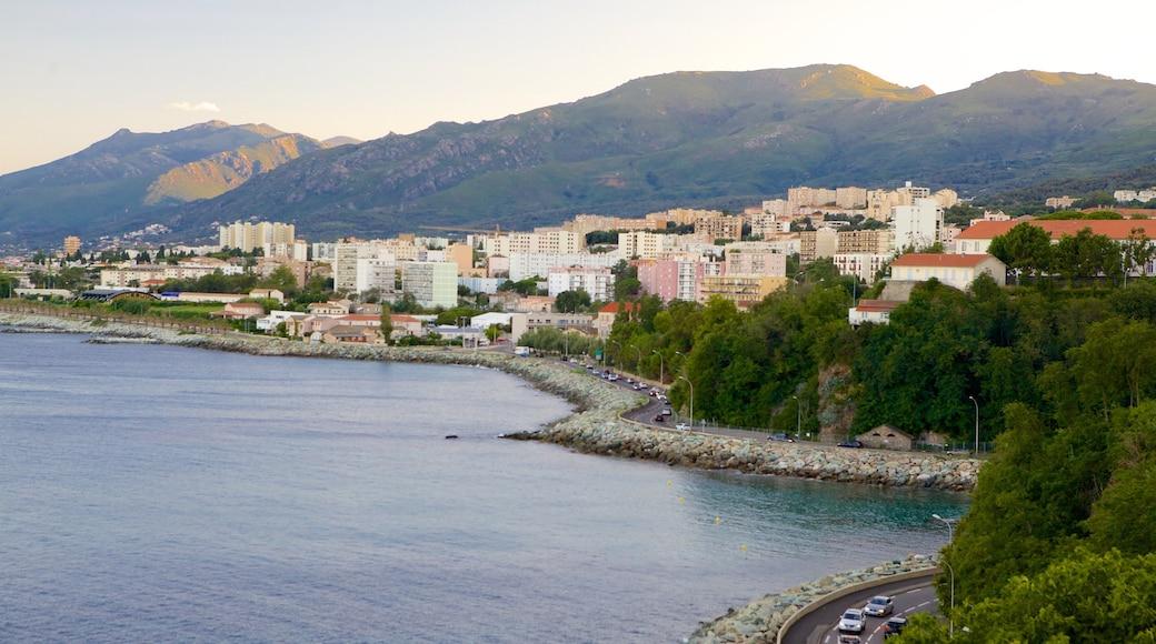 Bastia which includes rocky coastline and a coastal town