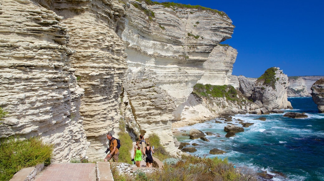 Bonifacio which includes rugged coastline and hiking or walking