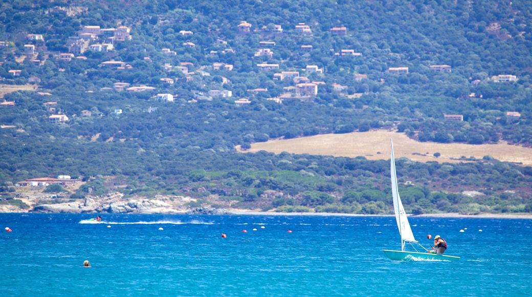 Calvi Beach featuring sailing