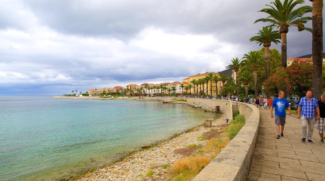 Playa de St. Francois ofreciendo vistas generales de la costa y una ciudad costera