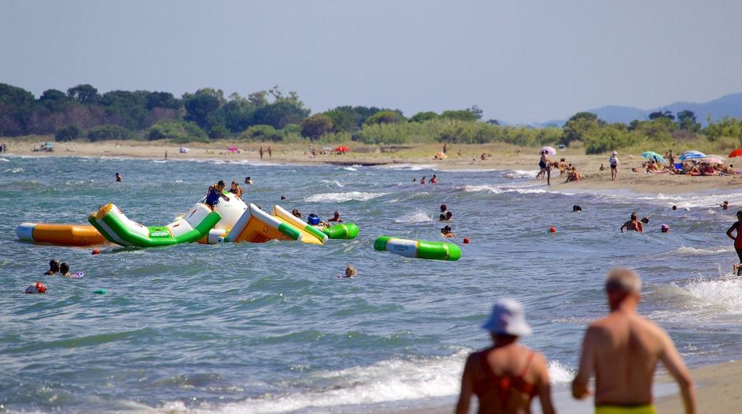 L\'Arinella Beach featuring swimming
