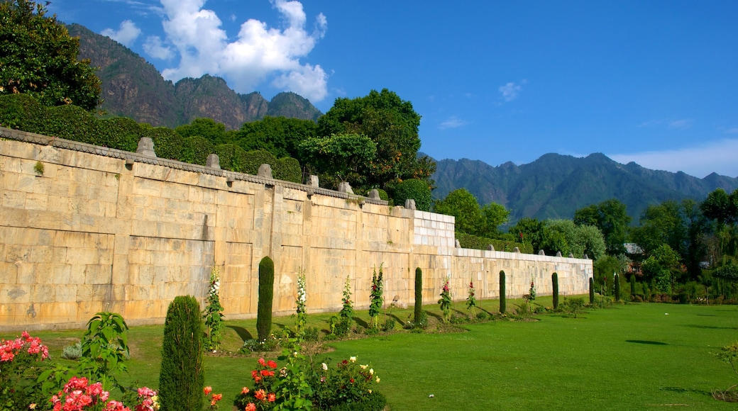Mughal Gardens which includes a park
