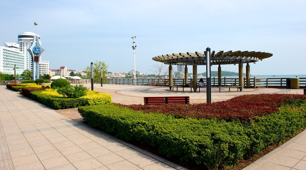 Number 1 Beach featuring a square or plaza and a park