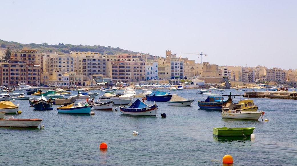 San Pawl il-Baħar mettant en vedette baie ou port et ville côtière