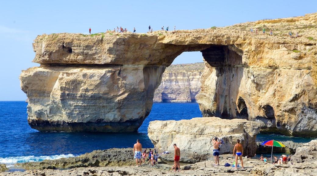 Azure Window featuring rocky coastline