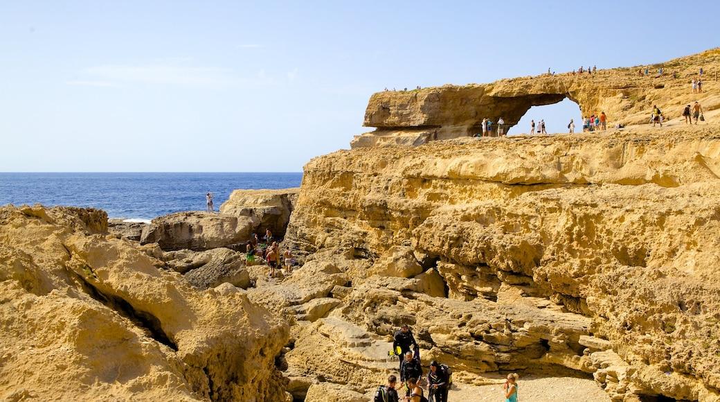 Azure Window which includes rugged coastline