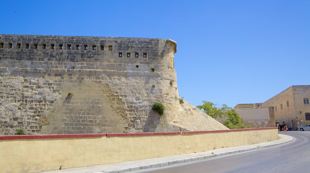 Fort St. Elmo mit einem historische Architektur und Palast oder Schloss