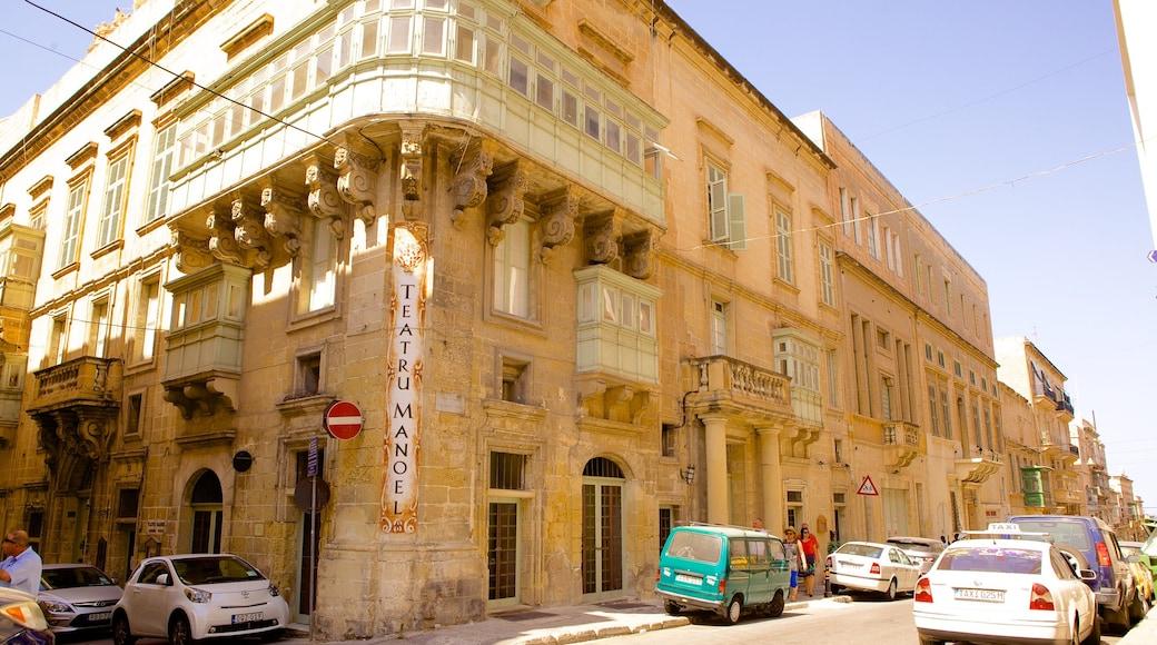 Teatru Manoel das einen historische Architektur und Straßenszenen