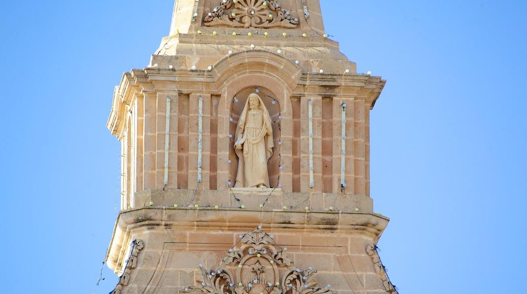 Kirche in Mellieha welches beinhaltet Kirche oder Kathedrale, religiöse Elemente und historische Architektur