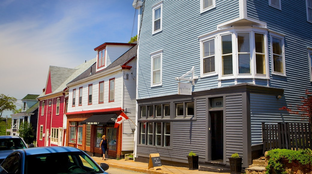 Lunenburg featuring street scenes and a house