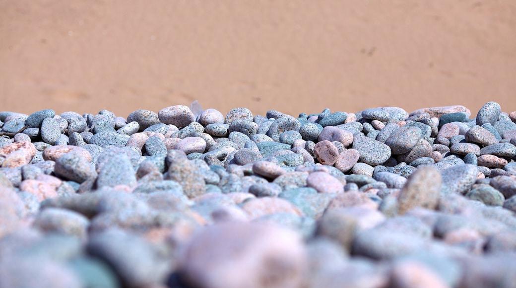 Ingonish Beach showing a pebble beach