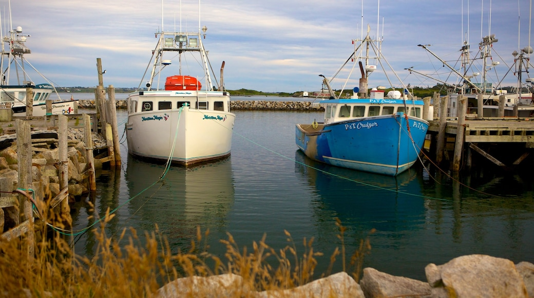 Yarmouth mostrando una marina