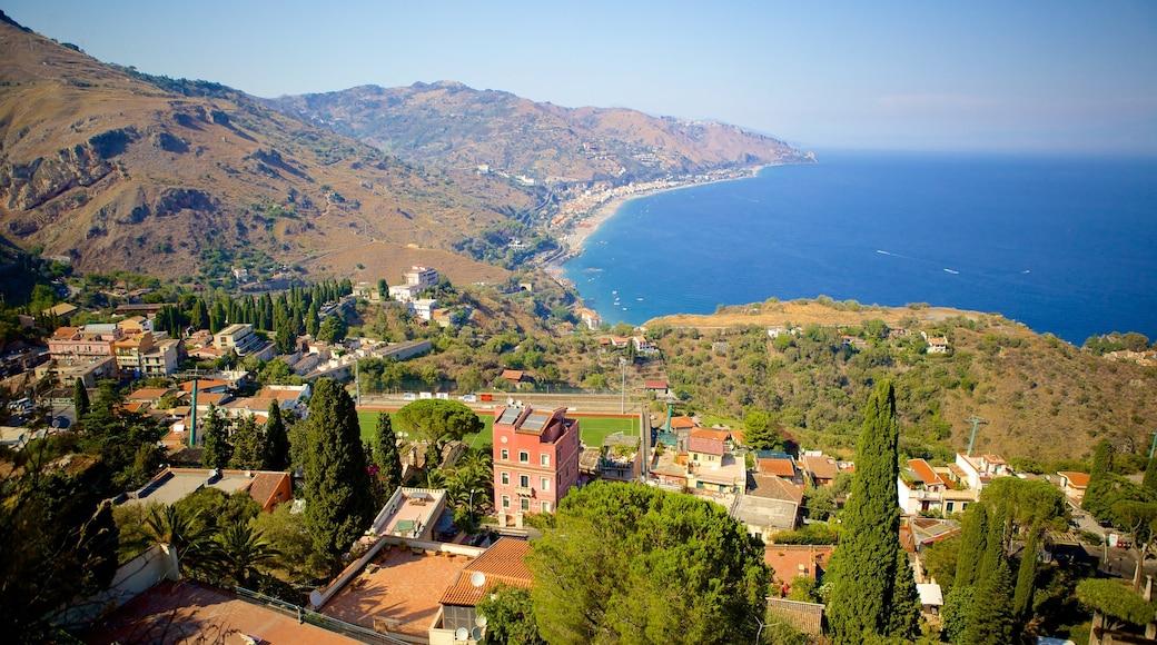 希臘劇場 呈现出 綜覽海岸風景