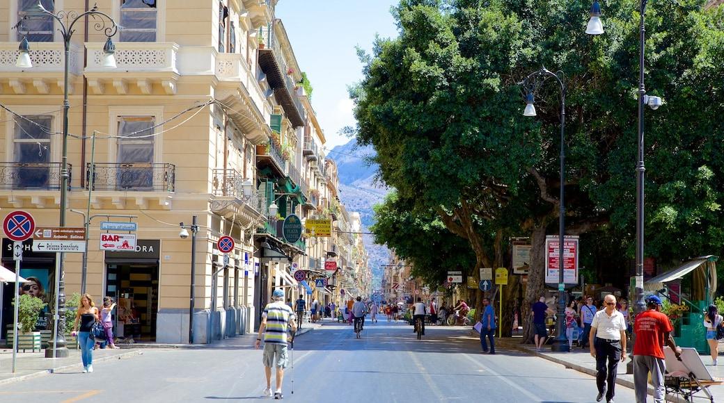 Palermo featuring katunäkymät