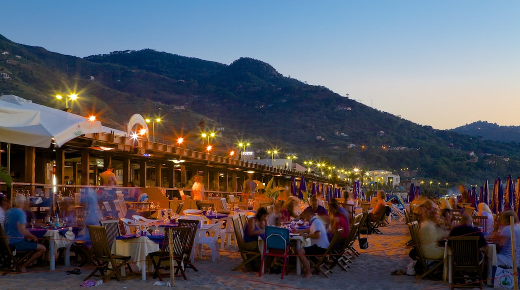 Cefalu featuring outdoor eating, nightlife and night scenes
