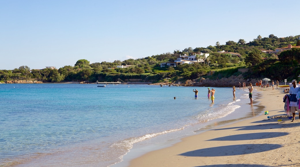 หาด Romazzino แสดง ชายหาด