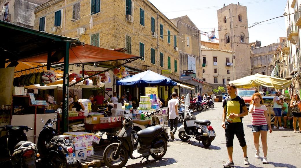 Ballaro 市集 其中包括 市場, 街道景色 和 城市