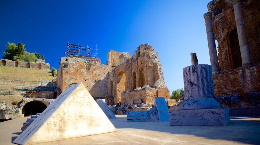 Greek Theatre featuring a ruin and heritage architecture