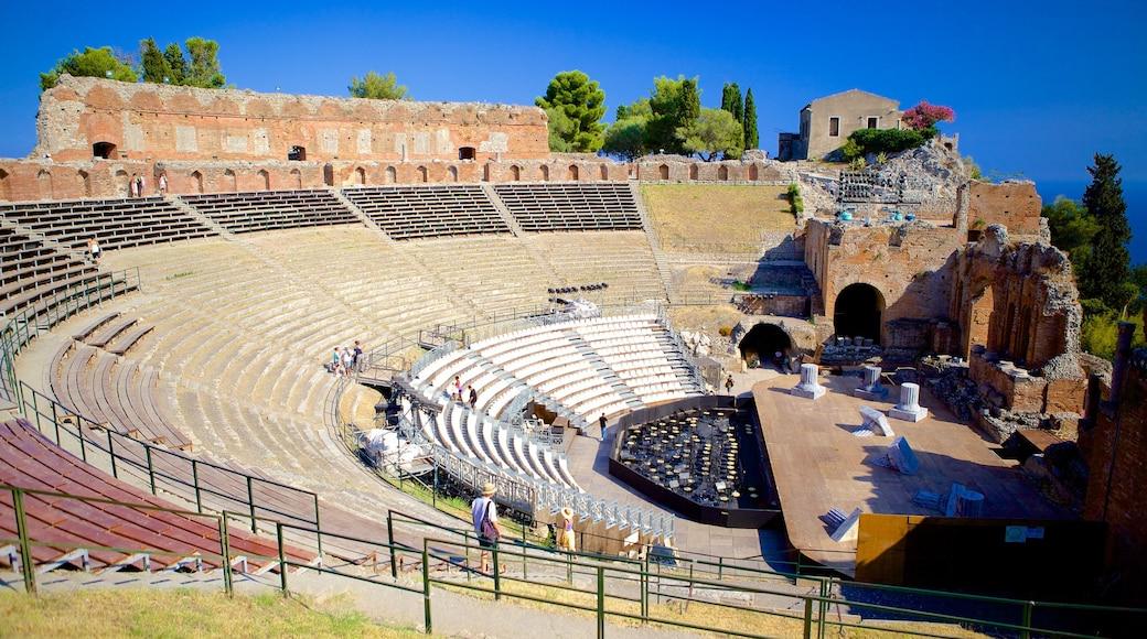 希臘劇場 设有 劇場環境 和 建築遺址