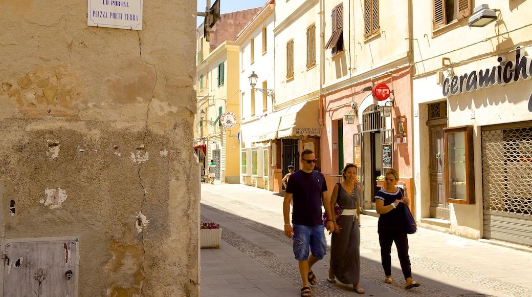 อัลแกโร เนื้อเรื่องที่ เมืองหรือหมู่บ้านเล็กๆ, ภาพท้องถนน และ มรดกทางสถาปัตยกรรม