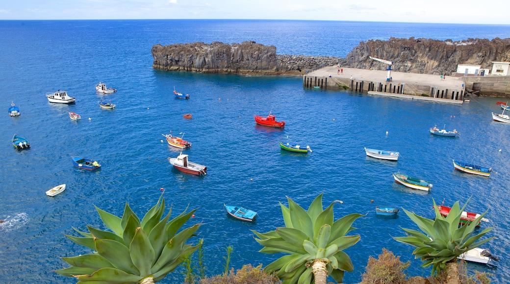 Camara de Lobos das einen Bootfahren, allgemeine Küstenansicht und Marina