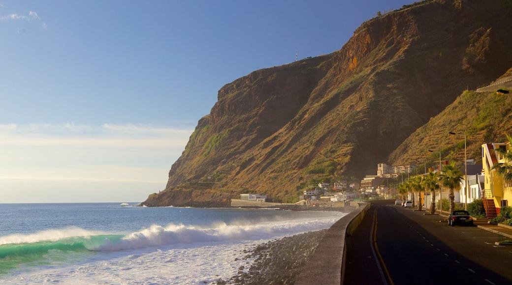 Paul do Mar das einen allgemeine Küstenansicht und Straßenszenen