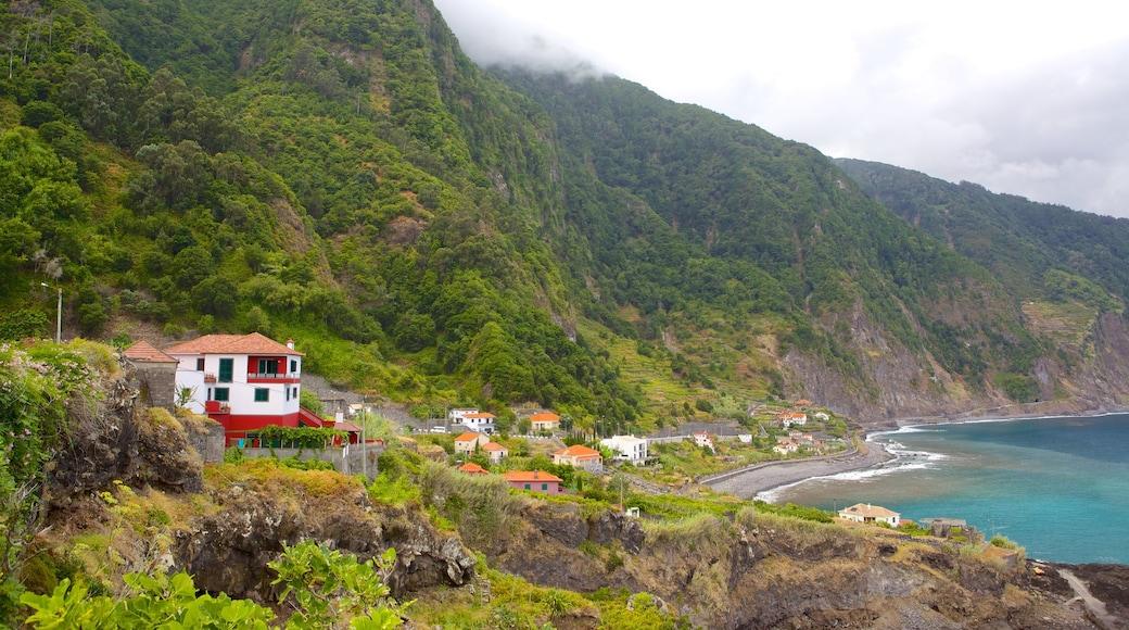 Madeira toont een kuststadje, algemene kustgezichten en een huis