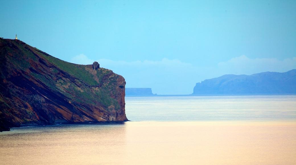Funchal das einen Landschaften, allgemeine Küstenansicht und Nebel