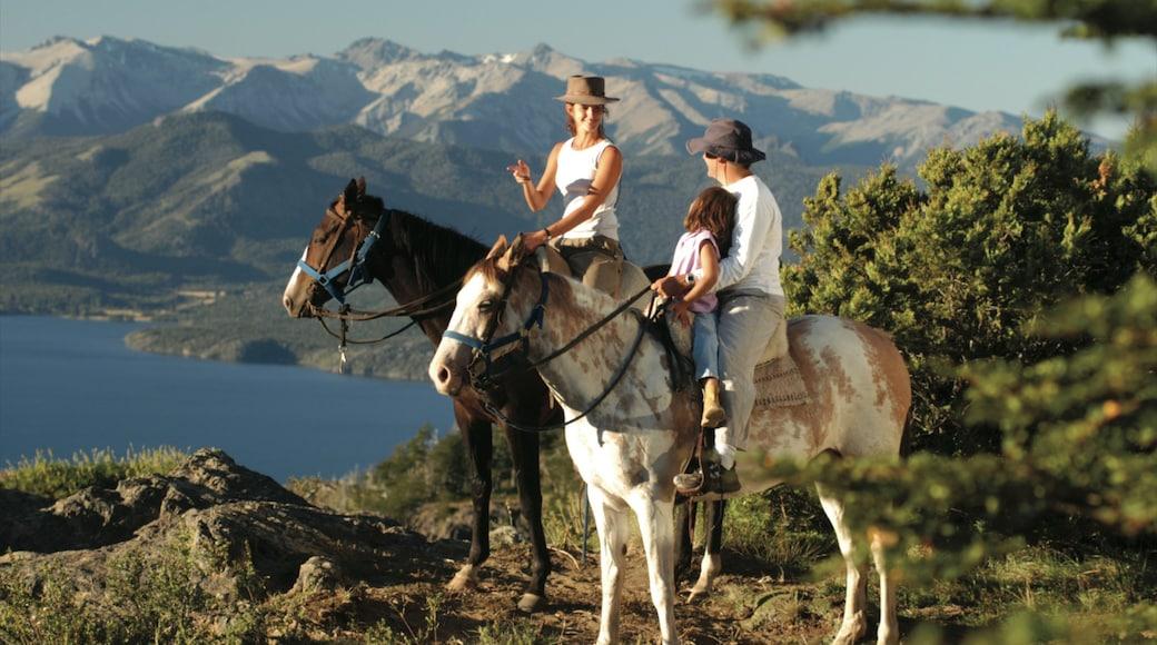 Nahuel Huapi National Park featuring mountains and horseriding