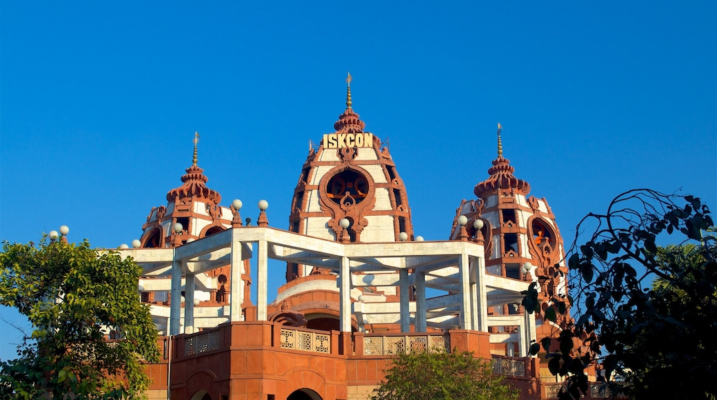 ISKCON Temple featuring a temple or place of worship, heritage architecture and religious aspects
