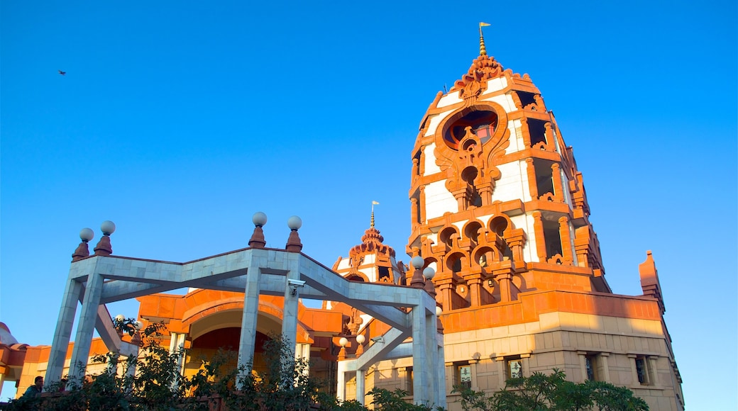 ISKCON Temple which includes religious elements, a temple or place of worship and heritage architecture
