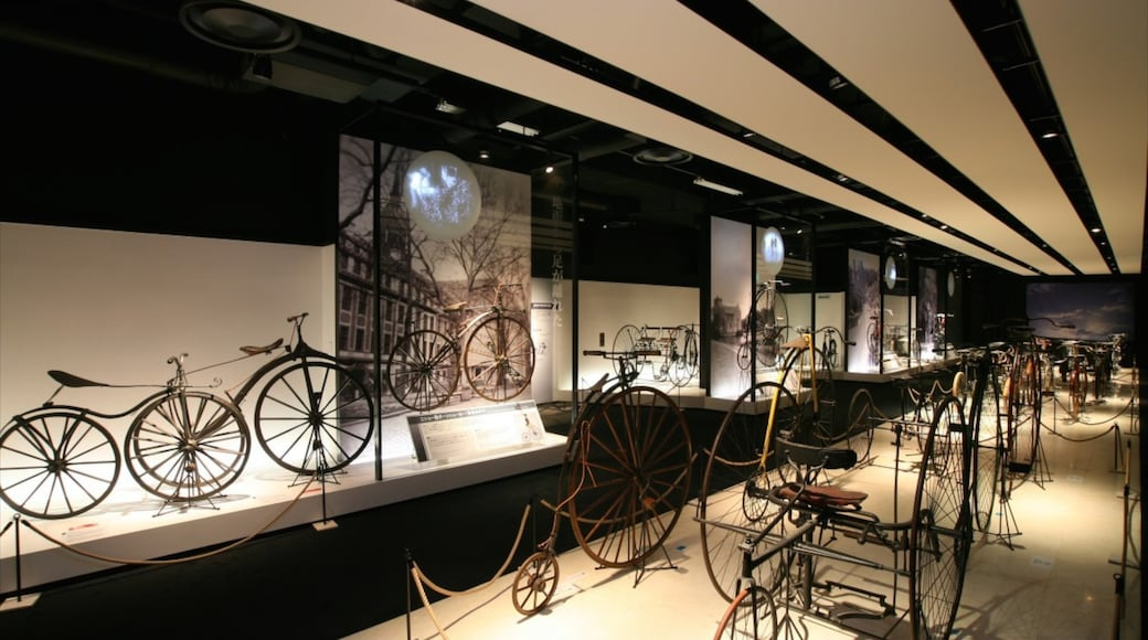 Bicycle Museum showing interior views