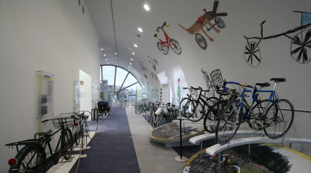 Bicycle Museum featuring interior views