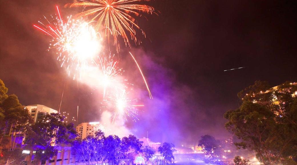 Parramatta showing nightlife and night scenes