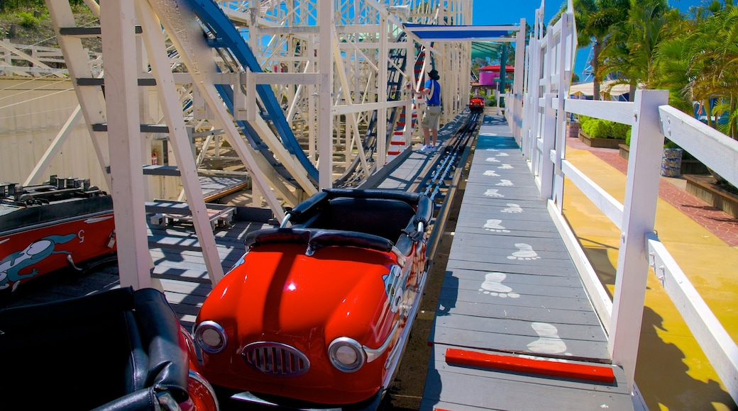 Aussie World which includes rides and railway items