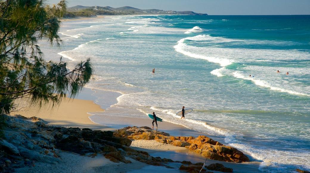 Coolum Beach featuring a sandy beach and landscape views