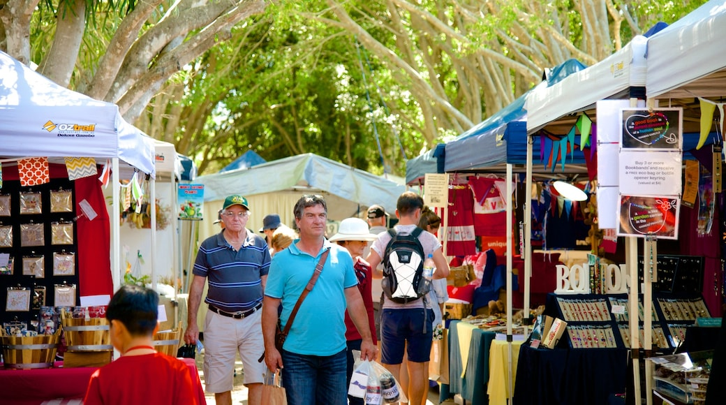 Eumundi which includes markets and street scenes as well as a large group of people